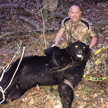 David Linker was deer hunting when he harvested the biggest bear ever killed in  Person County.