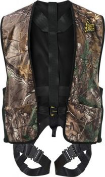 The Hunter Safety Systems harness was designed after a close call involving a collapsed deer stand.