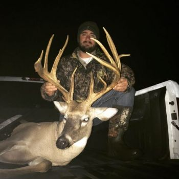 Andrew Purcell killed this heavy-racked buck on Oct. 28, 2018 from a box blind in Orange County, N.C.