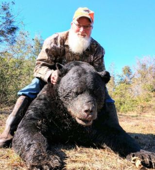 Jeff Murphy of Madison, N.C. killed this trophy black bear in Pamlico County with a 500-yard shot from his Winchester 7mm STW on Nov. 13, 2018.